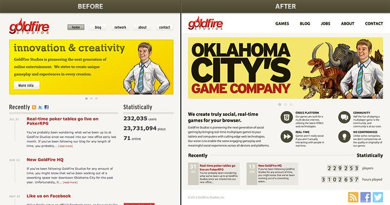 New GoldFire Studios Website
