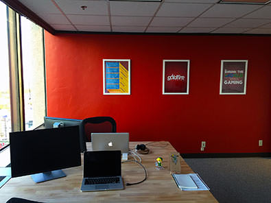GoldFire Studios Red Wall