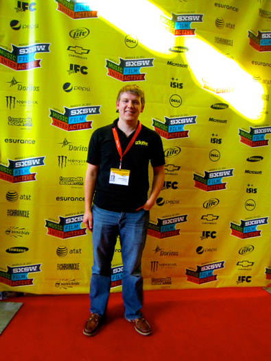 James Simpson on the red carpet at SXSW Film 2012
