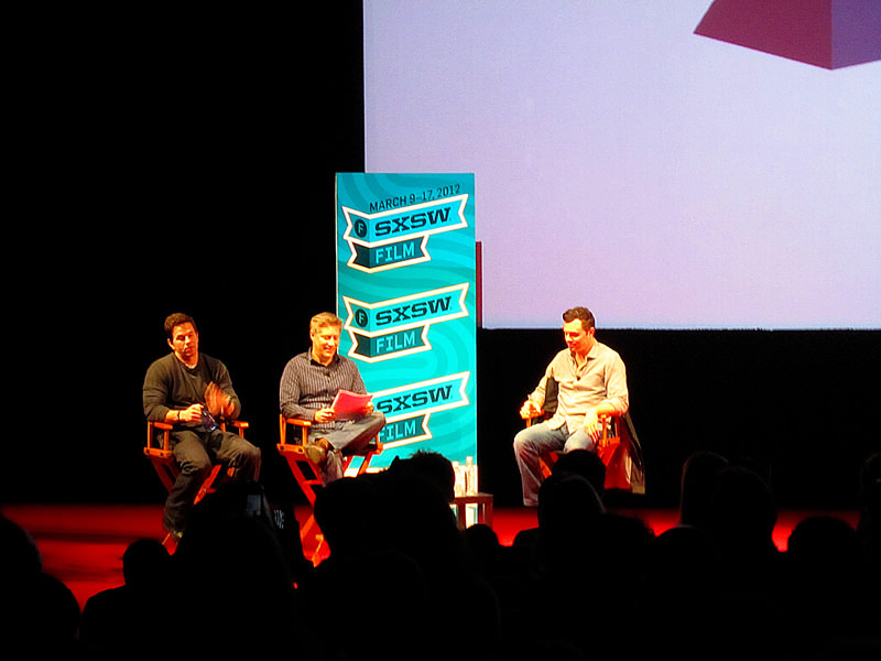 Mark Wahlberg and Seth MacFarlane on stage at SXSW Film 2012